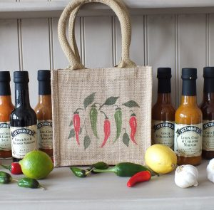 Hand Painted Gift Bag with 6 Jethro's sauces